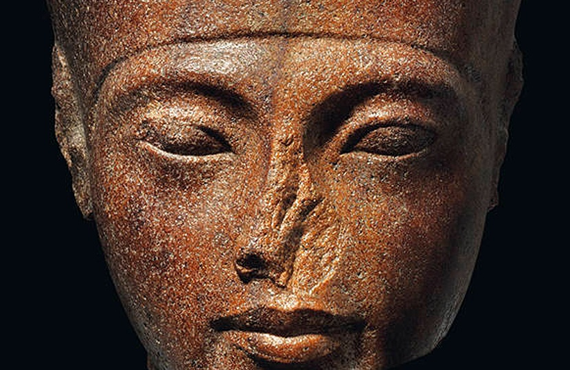 Egyptian head with features of King Tutankhamen to be offered at Christie's in July